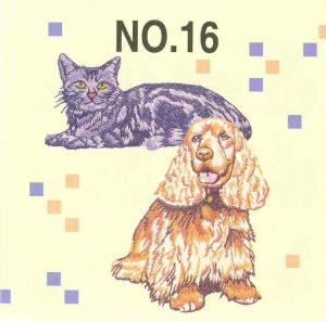 Brother SA316 No.16 Dogs & Cats Embroidery Card