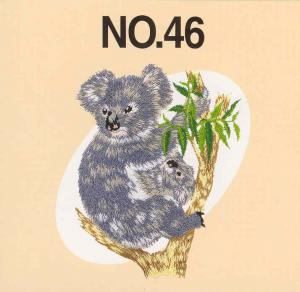 Brother, SA346, No.46, Australian Animals, Embroidery Card