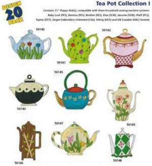 Amazing Designs / Great Notions 1138 Tea Pots Multi-Formatted CD