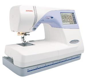 "Janome, Memory Craft, MC9500, Computerized Sewing, Embroidery Machine,Janome MC9500 & 25/10Yr Extended Warranty* 100Stitch Sewing and 5.5x8"" Embroidery Machine, 90 Designs, 3 Fonts, CF Compact Flash ATA Sleeve Card Port"