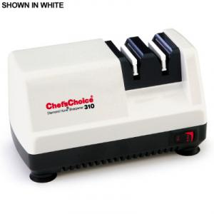 Chefs Choice 310 Diamond Hone 2Stage Compact Knife Blade Sharpener WHITE, 2Level magnetic guides, full blade edge, kitchen, pocket, fishing knives USA