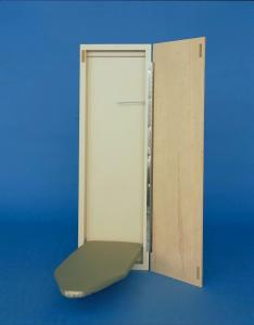 "Economy, Surface Mount, 42"" Ironing Board Center , SMM421, sm421, sm421000, smm421000, SM-42-1000,  Unfinished Birch Door,   Piano Hinge, , Made in USA"