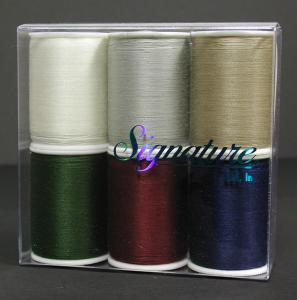 A&E, Signature, 100% Cotton, Machine Quilting, Thread, Sampler Box, - 6 Solid Colors, Kit