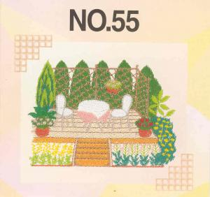 Brother SA355 No.55 Gardening Embroidery Card .pes Format For Brother, Babylock, Bernina Deco 500, 600, 650, White 3300, Simplicity SE1 SE2 SE3