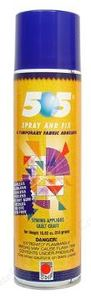 505 Spray & Fix Temporary Fabric Adhesive SPR505LG, Large 10.93 Fl Oz Ounce Can, Bond or Baste Embroidery Stabilizer in Hoop to Garments