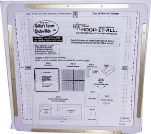Hoop It All Double Wide Quilters Square Hoopitall HIA Frame For Brother Innovis NV2500D, NV2800D