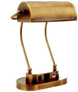 Verilux VD06BA1 Antiqued Brass Princeton Executive Desk Lamp