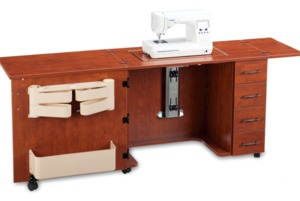 "Sylvia, 920, Sewing Machine Cabinet, Air Lift Platform, 12.5x24"" Opening, Replaces, 910, 79""W x 20""D x 30""H*"