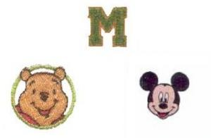 Brother TA3001 Chenille Alphabet, TA3002 Winnie the Pooh &amp; TA3003 Mickey Mouse Collection Applique Cassettes for E100 Applique Station