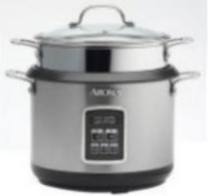 Aroma ARC-560 10 Cup Digital Gourmet Pasta and Rice Cooker (Stainless Steel)