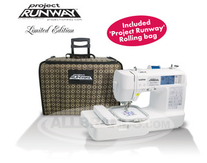 Brother, LB6800PRW, RLB6800, Project Runway, Roll,Bag, Computer, 67 Stitch, Sew, 4x4, Embroidery Machine, 4 Downloads* USB Cable, 70 Designs, 5 Fonts, 10 BH, Thread  Trim, 8 Feet, ONLINE