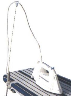 "Polder, POL103, Ironing Board, Clamp On, Flexible, ""Cordminder"", Steam Iron, Cord Holder, and Positioner, for Safety"