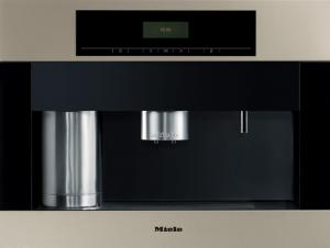 Miele, Germany, CVA 4062, Whole Bean, Coffee System, 24&quot; Wide, 500 grams, Grinds 6-12g/ Cup, 2 Spouts, Milk, Hot Water, Stainless steel, Swing Door, Hing Left, Auto Warn, Safe Lock