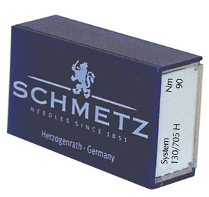 Schmetz, S15X1, German, Box of 100, Loose Needles, like Organ HAx1, 15X1, 130R Standard, Regular Flat Shank Nickel Plated Needles for Home Sewing Machines