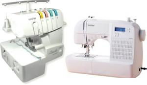 Brother HS-2000, hs2500, hs2000, hs-2500, 70 Stitch, Computer Sewing Machine, HS2000, and 1034D FS, 3&4 Thread, Freearm Serger, - FREE 100 Needles, and 12 Cones 2000 Yard Thread Kit