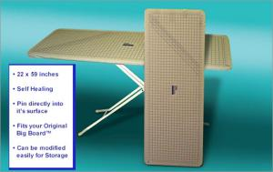 "Big Board, Self Healing, & Pinnable, Rotary Cutting Mat, 22"" X 59"", 1"" Grided Ruler & Angles,  Fits Big Board Ironing Board Expander Extension Table"