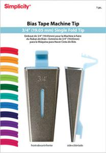 Simplicity 881967 Bias Tape Maker Tip-3/4&quot; Single Fold