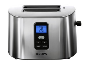 "Krups, TT6190, Stainless-Steel, 800-Watts, 2-Slice, Digital Toaster, High-lift toasting lever, for removing smaller items,  8x7x7"" Inches, Krups TT6190 Stainless Steel 2 Slice Digital Toaster 8x7x7"", 800W, 1.25"" Slots, LCD, High-lift lever for removing smaller items, 8 Brown Settings"