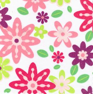 Fabric Finders 15 Yard Bolt 10.00 A Yd 783 Pique 100% Pima Cotton Fabric Large Floral 60 inch
