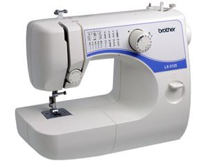 Brother, LX3125, Compact, Lightweight, Mechanical, Sewing Machine, 14 Stitches, 35 Functions, Bartack, Buttonholes, Auto Bobbin Winding, Instructional DVD