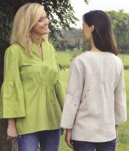 Indygo Junction IJ-864 Bell Sleeve Blouse Pattern
