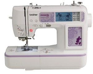 "Brother, NV950D, Sofia2 BL137A2, 129 Stitch, Sewing, USB Memory Stick, & Card Port, 4x4"" Embroidery Machine, 105 Designs, 35 Disney, 9 Fonts, 7mm Digitizing, Case, 3700 CD"