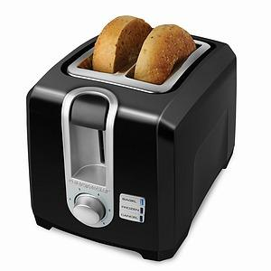 "Black & Decker, T2569B, 2 Slice, Toaster, Black, Self Centering, Extra Wide Slots. Frozen, Bagel, & Cancel, Control, Functions, Cord Storage, 13""x8.4""x9"""