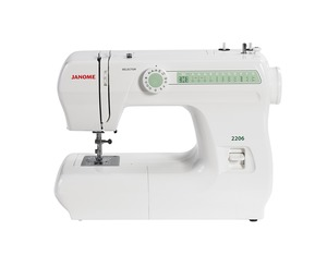 Janome 2206, One Dial, 6 Stitch, Basic, Mechanical, Full Size, Freearm, Sewing Machine, Buttonhole, Reverse, Metal Bobbin Case, Oscillating Hook, SnapOn Feet