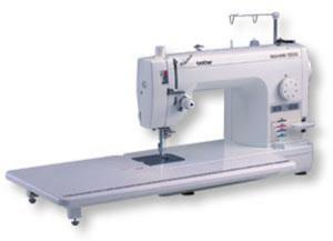 "Brother PQ1500S 9"" Arm, 7mm Straight Stitch Sewing Quilting Machine PinFeed NeedleUpDown Threader Trimmers KneeLift DropFeed WalkFoot 12x18""Table 25Yr"