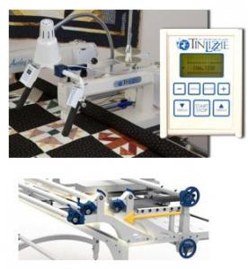 Tin Lizzie, 18DLS, Digital, 18&quot; Long Arm, Quilting Machine, and Phoenix, 72-144&quot; King Size, Metal, Quilting Frame, Tin Lizzie Demo 18DLS Digital 18&quot; LongArm Quilting Machine Head, Handle Bars, Stitch Regulator, Encoders +Phoenix 144&quot; King Height Adjust Metal Frame