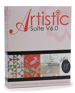 Artistic Suite, V6.0, DRAWings, Digitizing, Wings Cutwork, Crystals Monogram Software, 4 Cutwork Needles, Cut 32 Layers, Applique, Embroidery, Quilt Designs, Video