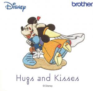 "Brother, SA312D, ""Hugs and Kisses"",  25 Designs, for 4x4"" Area, Disney Embroidery Card, only for Brother Machines, whose model number ends in D"