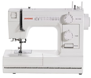 Janome, HD-1000, 14, Stitch, Mechanical, Sewing, Machine, HD1000, 1 4-Step Buttonhole, Free Arm, Drop Feed, Reverse Stitch Layer, Push-Pull Bobbin Winding