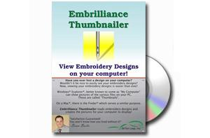 Embrilliance, Thumbnailer, Embroidery Software, for Macintosh, &amp; Windows,. Create, View thumbnail images, for your embroidery, design files, and home formats*