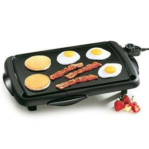 Presto 07047 Cool Touch Family Size Griddle Grill, 10.5x16&quot; Non Stick Cooking Surface, Sloped Ledge, Master Heat Control, Drip Tray, Dishwasher Safe*