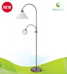 "Daylight UN1108 Naturalight Craft Floor Lamp 11W Light 51""High, 4"" Lens 1.75x Magnifier Removable  Arm, for sewing embroidery quilting hobbies reading"