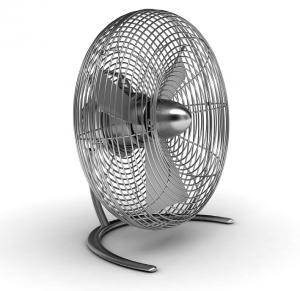 Stadler Form C-020A Charly Little Desk Fan, 3 Speeds, 30 Watt, Less than 40db