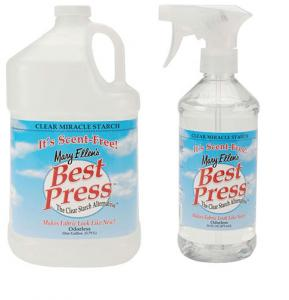 Mary Ellens Best Press Clear Starch No Scent 16oz Non Aerosol Spray 6959A PLUS Full Gallon Refill Bottle 6959RE