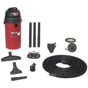Shop Vac 001-95201 Hang Up Vac 3 HP 3.5 Gallon Lock on Hose, Wall Mount, 3 Year Warranty, Includes Accessories, 6' Cord, Extension Wand, Round Brush, Crevice Tool, Gulper Nozzle, Tool Holder, Filters