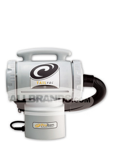 Proteam 001-9103 Tail Vac Backpack 101550, 3' to 1' Stretch Vacuum Hose, 50' Extension Cord, Convertible 3-Way Belt System, Two Micro Intercept Filters®, Weighs 8 lbs