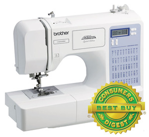 Brother, CS5055PRW, ce5500, Project Runway, 50/87 Stitches, LCD, Computer, Sewing Machine, 5 x 1-Step, Buttonholes, Theader, Top Bobbin, Drop Feed, Free Motion, 11 Pounds