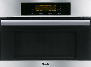 "Miele H4084BM Classic Design 24"" inch Speed Oven, Master Chef Touch Controls, 1000 Watt Microwave, 15 Operating Modes, Perfect Cleen Stainless Interior, Favorites Option, Halogen Light, Clean Touch Steel, Infrared Broiling"