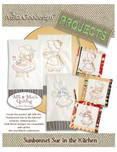 Anita Goodesign PROJ04 Sunbonnet Sue In the Kitchen Pro Embroidery Design Pack on CD
