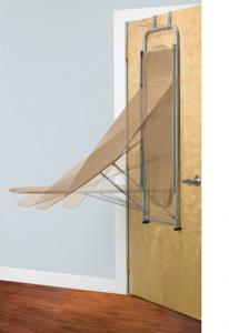 "Polder, IB-1442-76, Over the Door, Ironing Board, BROWN, 42x13"" Inches, Built in Iron Holder, Steel Frame, Metal Mesh, Surface, for Steam Flow, Locking Tab"