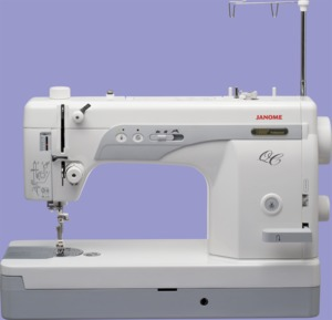 "Janome 1600P-QC Professional High Speed Sewing and Quilting Machine, 9"" x 6"" Work Area, Knee Lift, 800-1600 spm"