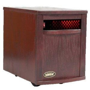 SunHeat SH-1500 Electronic Infrared Zone Heater (Black Cherry), Heavy Duty Casters, 1500 Watts, 12.5 Amps, 7-10 Minutes of Free Heat,140CFM,3 Ply Filter