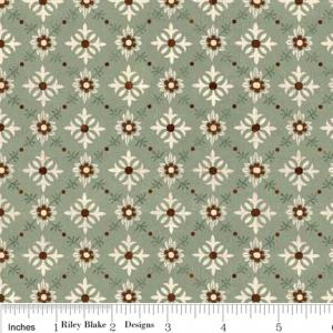 "Riley Blake Designs C2714 Green Grandma's House Trellis 15Yd Bolt 7.34 A Yd 100% Cotton  45""Fabric"