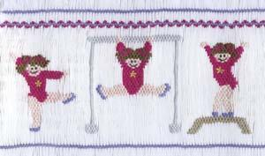 June Bug   JB50 Olympic Hopefuls Smocking Plate