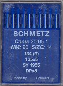 Schmetz, S134R MR, 135x5MR, Box of 100 Crank Needles, for Long Arm Quilting Machines, Die Press w/o Fins, Max Stiff, size 134R MR-2.5/80, 134R MR-3.0/90, 134R MR-3.5/100 Recommended., Schmetz Germany S134R MR (Organ 135x5MR) Box of 100 Crank Needles, Size 2.5/80 3.0/90, 3.5/100 4.0/110 4.5/120 5.0/130, for LongArm Quilting Machines,  S1844 Size 3.5/100, S1845 Size 4.0/110, S1846 Size 4.5/120, S1847 5.0/130