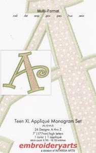 Embroideryarts AL121AZ Teen XL Applique Monogram Set  Embroidery Multi-Formatted CD